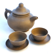 Yixing Kännchen, Glaskännchen, Tonkännchen
